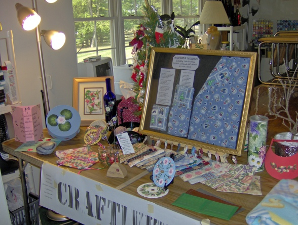 Craft vendor table of my hand made crafts